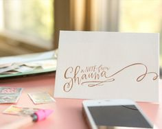 Lindsay Letters Calligraphy Stationery (via Oh So Beautiful Paper)
