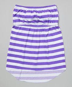 Look what I found on White & Purple Stripe Elastic-Waist Dress - Girls by Happy Kids for Kids Purple Lace, Happy Kids, Elastic Waist, Lace Dress, Kids Fashion, Girls Dresses, Pretty, Skirts, Happy Children