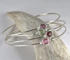 February Giveaway Contest! One sterling silver birthstone bangle.