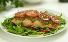 Baked Salmon with Chilli Pesto Recipe