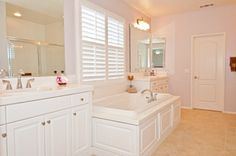 Master Bath with standing shower, soaking tub and dual vanities