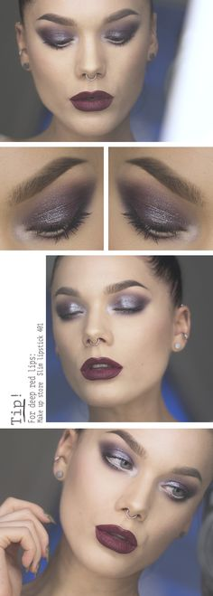 Todays look – Deep red - Linda Hallberg The eye shadow color is freakin' amazing!!!! and the lips also