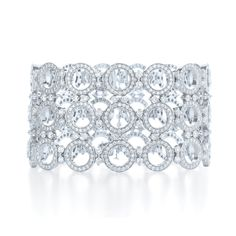 Kwiat: Three row diamond bracelet from the Rosette Collection in 18K white gold