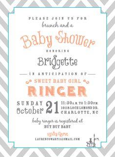 baby shower invite: cowart design