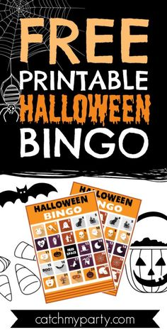 If you're throwing a kids' Halloween party, or even one for adults, how about using these FREE printable Halloween bingo cards as an easy activity to entertain your guests? See more party ideas and share yours at CatchMyParty.com #catchmyparty #partyideas #freeprintable #halloweenbingo Activities For Boys, Halloween Activities, Party Activities, Halloween Kids, Halloween Bingo Cards, Halloween Party Favors, Halloween Celebration, Free Baby Shower Printables, Free Printables
