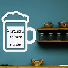 Wall decal whiteboard Beer foam – Wall Decals Whiteboard All the Whiteboard - Ambiance-sticker