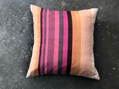 Denim Fabric, Coral Pink, Pillow Cases, Hand Weaving, Throw Pillows, Farms, Products, Hand Knitting, Toss Pillows