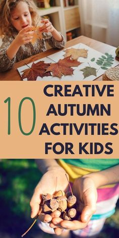Fun, creative and EASY fall projects for kids. Enjoy autumn to the fullest with these super duper easy and creative autumn activities for kids using leaves, seeds, apples, pumpkins and more! Fall Activities For Toddlers, Forest School Activities, Outdoor Activities For Kids, Craft Activities, Autumn Crafts, Fall Crafts For Kids, Craft Projects For Kids, Kids Crafts, Easy Crafts