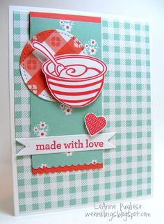 LeAnne Pugliese wee inklings: GDP074 Made With Love Stampin Up Perfect Mix Kind and Cozy