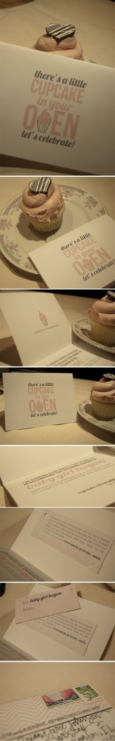 """There's a Little Cupcake in Your Oven""....omg, that is TOO cute! I MUST do this in the future! ;)"