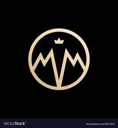 Mm lettermark monogram circle round logo vector image on VectorStock Round Logo Design, Circle Logo Design, Mm Logo, Clever Logo, Lashes Logo, Marca Personal, Graffiti Lettering, Photo Logo, Monogram Logo
