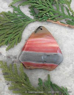 Mookaite Jasper Gemstone Pendant               by CedarCreekCanada