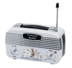 Rádio AM FM Vintage - Branco
