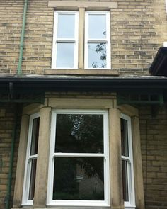 Before & after photo's of replacement  window installation and a very happy customer #Bradford #Yorkshire #windows #slidingsash #upvc #trades #construction #workmen #customerservice #customercare  #glazing #glass #home #homeimprovement #supply #installation #nationwide