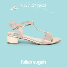 New Arrival by FULLAHSUGAH!  Μεταλλιζέ Τ-bar σανδάλι | 2446101517 #sales #shoes #sandals #fullah_sugah #trends #style