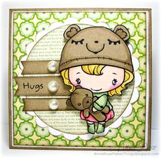 Adorable card by Annie Rose - Love the watercoloring with distress inks, great layout too!