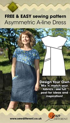 � Colour Blocking � Pattern Mixing � Tonal Textures � My latest FREE sewing pattern, the Asymmetric A-line Dress, is the PERFECT style for all three of these design options. You can colour-block it in fabulous brights, OR you can work it up in similar ton