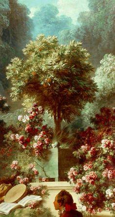 Pintura de Francois Boucher ,pintor favorito de Madame Pompadour  (fragmento )