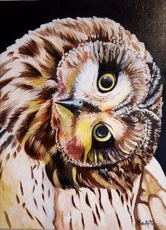 Original Oil Painting Fine art, Ural Owl, Painting on canvas, Owl, Cute Owl, Guess Whoo,, 17,71'' x 23.62'' Bird Art, Owl Painting by SoulArtAlina on Etsy Cute Owl, Bird Art, Oil Paintings, The Originals, Canvas, Unique Jewelry, Artist, Animals, Etsy