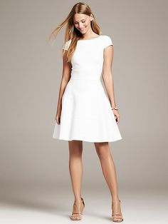7 Little White Dress Styles to Try this Summer: Little White Fit and Flare Dress