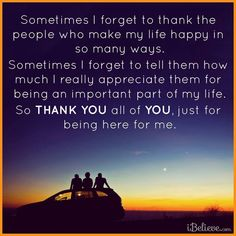 Always give thanks, even for the little things
