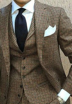 ♔ Tweed suit Men's fashion and style