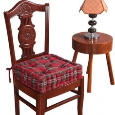 Dining Booster Cushion Edward Tartan Design Cotton