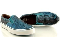 Vans Classic Slip On, Spring Summer 2015, Snake, Blue, Collection, Shoes, Fashion, Moda, Zapatos