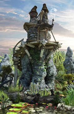 Gnome House    To create this house I was inspired by Gnomes and Elves.    I used in this scene 3DMax, Mudbox, Vray, Photoshop.    I hope you enjoy the work.    Best Regards