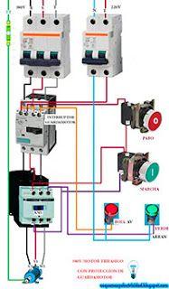Esquemas eléctricos: Paro marcha con guardamotor trifásico