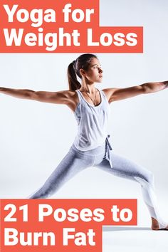 You can use yoga to lose weight, but only through the right poses. Here are 21 y… You can use yoga to lose weight, but only through the right poses. Here are 21 yoga poses that are going to help you lose weight quickly. Weight Loss Meals, Weight Loss Blogs, Yoga For Weight Loss, Weight Loss Drinks, Fast Weight Loss, Healthy Weight Loss, Weight Gain, Fat Fast, Body Weight
