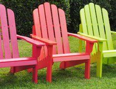 I pinned this from the Shine Company - Colorful Adirondacks, Rockers & Tables event at Joss & Main!