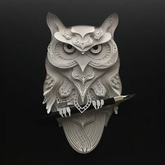 Owl paper cut #papercut #craft #paper #animal
