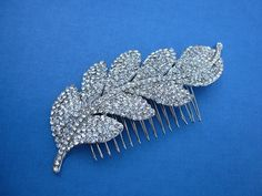 Bridal hair comb bridal hair accessorie wedding by EverythingBride, $55.00