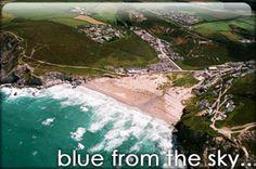 Porthtowan where my favourite beach cafe the Blue Bar is.