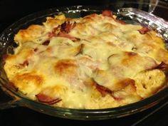 Low Carb, High Protein & Family Friendly Dinner Idea   {Recipe} Chicken Cordon Bleu Casserole