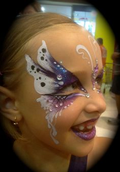 Butterfly face paint #facepaint #facepainting