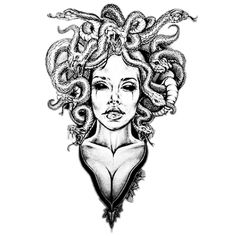 I like the neck down portion of this image but with a different head for medusa Medusa Tattoo Design, Tattoo Design Drawings, Tattoo Sleeve Designs, Tattoo Sketches, Bild Tattoos, Leg Tattoos, Body Art Tattoos, Sleeve Tattoos, Tattos