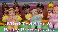 RARE 5 Princess Mini Babies, Disney My First Princess Mini Toddler, Mini...