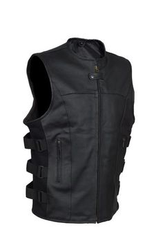 - 2 inside Gun pockets. - Both gun pocket features extra strap for magazine. - Made from Top Grade Heavy Duty cowhide Leather. - Comfortable inside liner made of polyester. - Unique styling details an