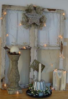 Shabby-Fenster weihnachtlich