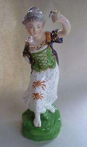 ANTIQUE STAFFORDSHIRE PORCELAIN FIGURE SPRING, GREEN BASE DUDSON c1840 A/F in Pottery, Porcelain & Glass, Date-Lined Ceramics, c.1840- c.1900   eBay