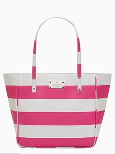 adorable striped kate spade bag on sale for $99