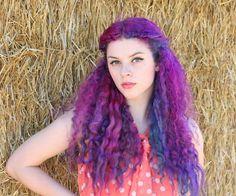 purple curly hair tumblr - Google Search