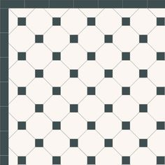 London Mosaic Victorian tile design: Octagon 150 - monochrome, traditional victorian, floor tiles octagon