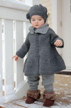 Пальто для девочек крючком и с |