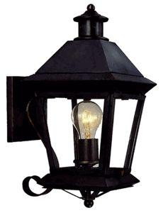 Brookfield Wall Mount Copper Lantern with Bracket