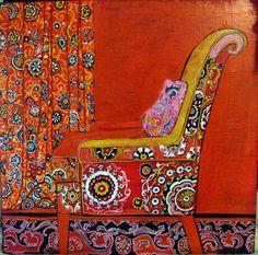 "Linda Arthurs: ""Suzani Chair"""