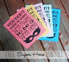free printable super hero