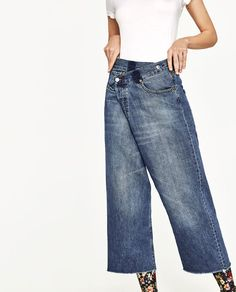 Image 2 of CROSSOVER DENIM CULOTTES from Zara